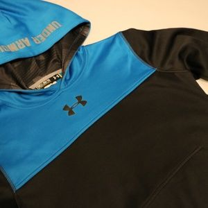 Under Armour Shirts & Tops - Under Armour Boys M Hoodie Sweater blue & black